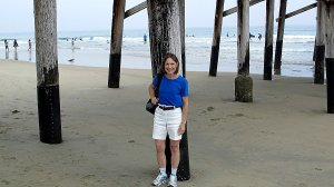 Before first trip to ER, in  June. Sunny California!